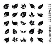 leaf glyph icons   | Shutterstock .eps vector #1133596373