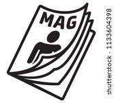 icon pictogram  magazine ... | Shutterstock .eps vector #1133604398