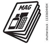 icon pictogram  magazine ... | Shutterstock .eps vector #1133604404