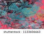 hand made art. colorful texture.... | Shutterstock . vector #1133606663