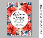 floral wedding invitation... | Shutterstock .eps vector #1133609483