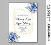 floral wedding invitation... | Shutterstock .eps vector #1133609573