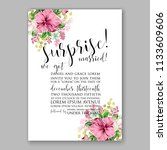 floral wedding invitation... | Shutterstock .eps vector #1133609606