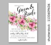 floral wedding invitation... | Shutterstock .eps vector #1133609636
