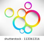 presentation slide template... | Shutterstock . vector #113361316