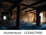 ruins of abandoned old broken... | Shutterstock . vector #1133617400