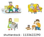 family in different situations  ... | Shutterstock .eps vector #1133622290