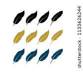 creative feather logo design...   Shutterstock .eps vector #1133626244