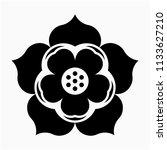 glyph lotus flower pixel... | Shutterstock .eps vector #1133627210