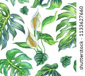 seamless pattern of tropical... | Shutterstock . vector #1133627660
