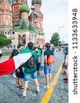 moscow  russia   june 29  2018  ...   Shutterstock . vector #1133633948