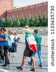 moscow  russia   june 29  2018  ...   Shutterstock . vector #1133635730