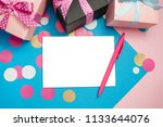 decorated boxes and blank white ... | Shutterstock . vector #1133644076