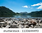 low view of ullswater lake in... | Shutterstock . vector #1133644493