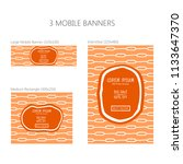 three banners for mobile phone. ... | Shutterstock .eps vector #1133647370