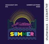 summer poster music festival   Shutterstock .eps vector #1133649749