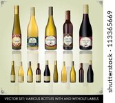 collection of various bottles... | Shutterstock .eps vector #113365669