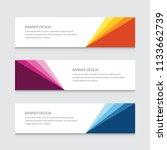 modern banner design vector... | Shutterstock .eps vector #1133662739