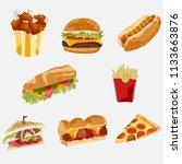 food illustration vector design   Shutterstock .eps vector #1133663876