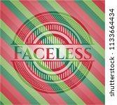 faceless christmas badge.   Shutterstock .eps vector #1133664434