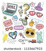 set of design element and icon... | Shutterstock .eps vector #1133667923