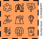 simple 9 icon set of ecology... | Shutterstock .eps vector #1133668499