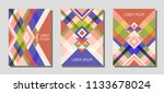 set of cover page layouts ... | Shutterstock .eps vector #1133678024