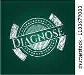 diagnose on blackboard | Shutterstock .eps vector #1133679083