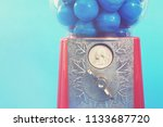 bubble gum machine with a...   Shutterstock . vector #1133687720