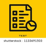 test icon signs