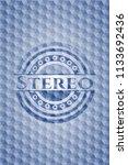 stereo blue emblem or badge... | Shutterstock .eps vector #1133692436
