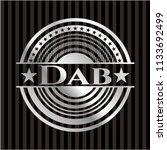 dab silvery shiny emblem | Shutterstock .eps vector #1133692499