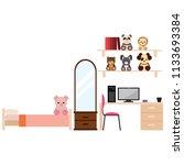 student dorm room | Shutterstock .eps vector #1133693384