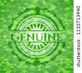 genuine green emblem with... | Shutterstock .eps vector #1133713940