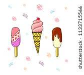 vector illustration of ice... | Shutterstock .eps vector #1133715566