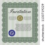 green invitation template.... | Shutterstock .eps vector #1133719229