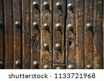 antique  weathered solid oak...   Shutterstock . vector #1133721968