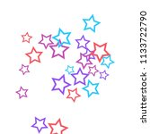 colorful stars confetti ... | Shutterstock .eps vector #1133722790