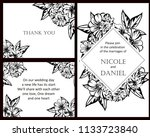 vintage delicate greeting... | Shutterstock . vector #1133723840