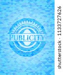 publicity sky blue emblem with... | Shutterstock .eps vector #1133727626