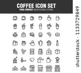 cafe icon set  a set of coffee ... | Shutterstock .eps vector #1133729849