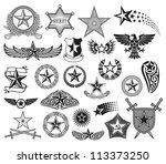 set of stars | Shutterstock . vector #113373250