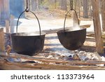 Boiling Maple Syrup The Old Way