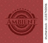 ambient retro style red emblem | Shutterstock .eps vector #1133743046