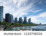 float plane taxiing away from...   Shutterstock . vector #1133748326