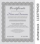 grey certificate. with great... | Shutterstock .eps vector #1133750420