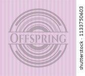 offspring pink emblem   Shutterstock .eps vector #1133750603