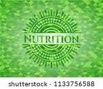 nutrition green emblem with...   Shutterstock .eps vector #1133756588