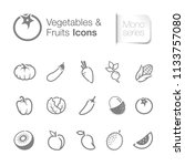 vegetables   fruits icons | Shutterstock .eps vector #1133757080