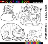 coloring book or page cartoon... | Shutterstock .eps vector #113375806